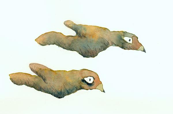 Tutorial super easy watercolor birds for Simple watercolor tutorial