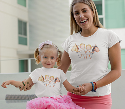 mockup-of-a-mom-and-her-baby-girl-wearing-t-shirts-and-pink-skirts-26495 copy